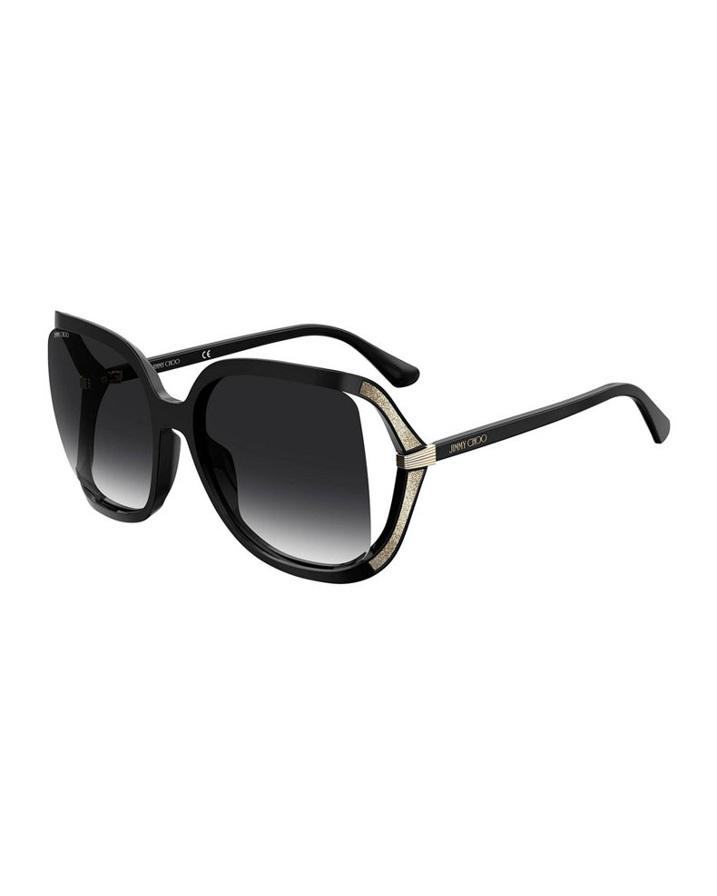 Jimmy Choo Tildags Square Open Temples Sunglasses