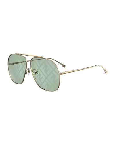 Square Metal FF Lenses Sunglasses