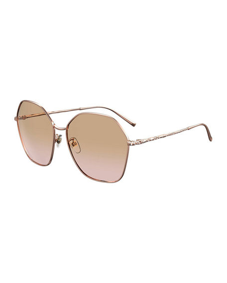 Givenchy Square Metal Crystal-Trim Sunglasses