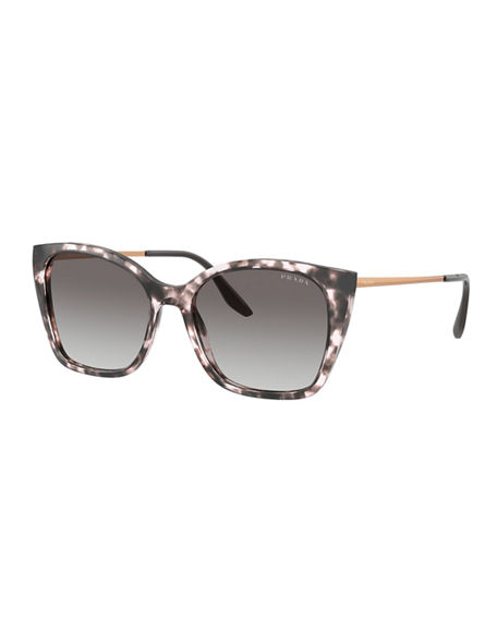 Prada Two-Tone Acetate Cat-Eye Sunglasses