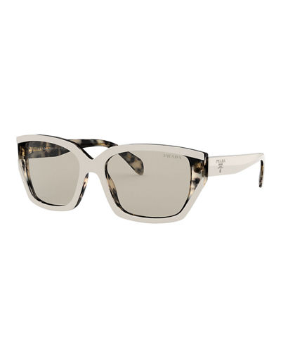 Rectangle Acetate Sunglasses