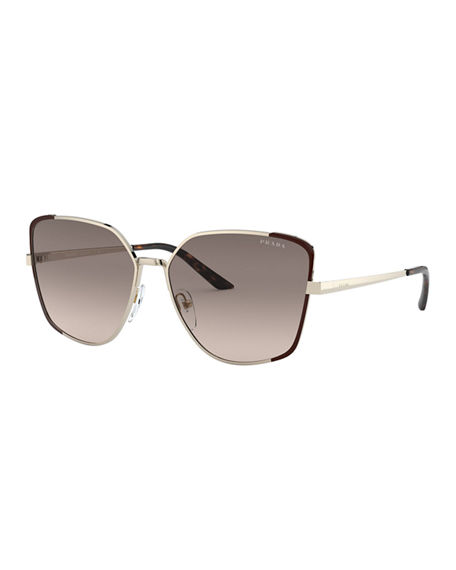 Prada Cat-Eye Metal Sunglasses