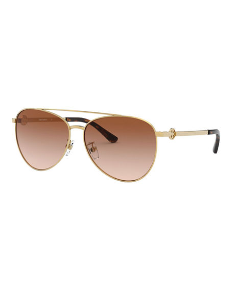 Tory Burch Metal Aviator Sunglasses
