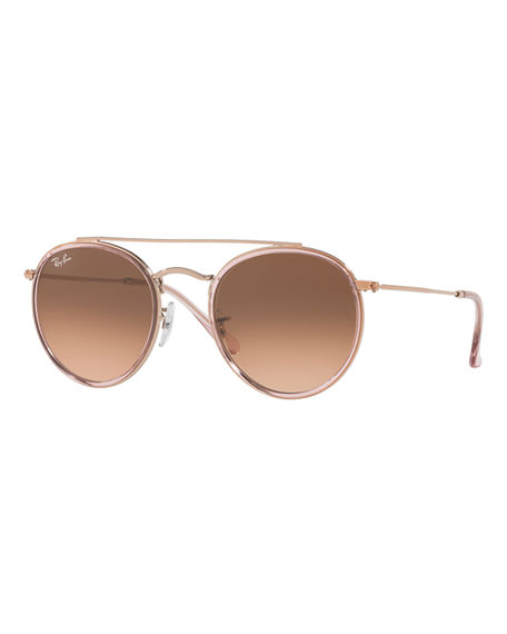 Ray-Ban Round Gradient Metal Sunglasses