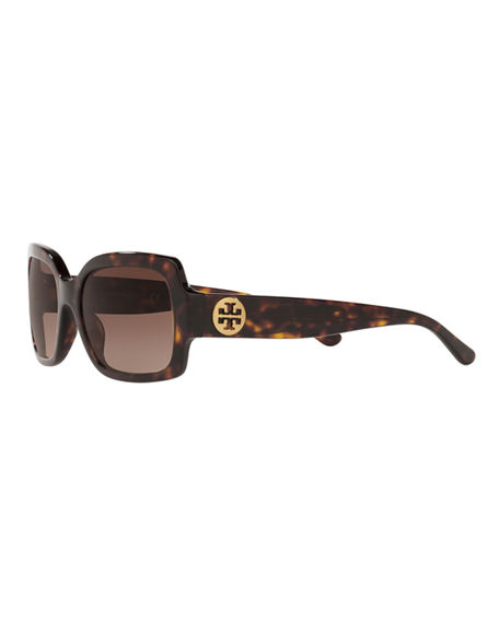Image 3 of 3: Tory Burch Square Acetate Sunglasses