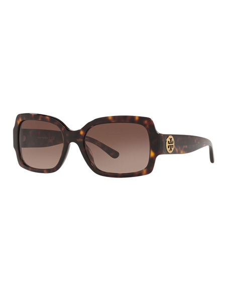 Image 1 of 3: Tory Burch Square Acetate Sunglasses