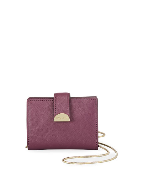 The Marc Jacobs Half Moon Small Card Case With Chain
