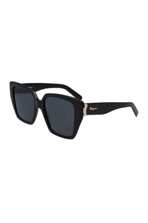 Salvatore Ferragamo Vara Square Acetate Sunglasses