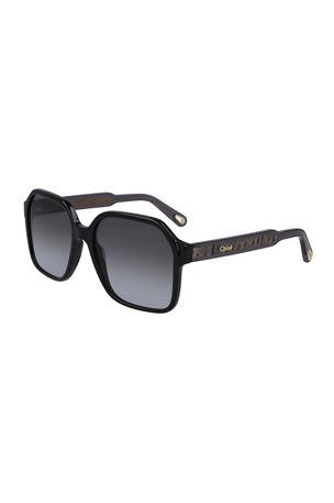 Chloe Willow Square Sunglasses