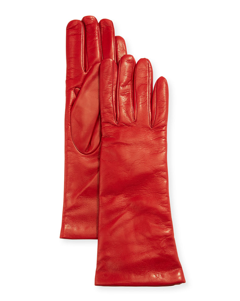 Portolano Four-Button Leather Gloves