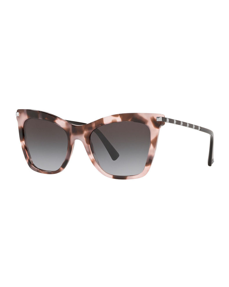 Valentino Cat-Eye Acetate Rockstud Sunglasses
