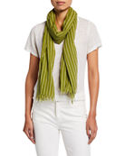 Eileen Fisher Organic Cotton Sheer Grid Scarf