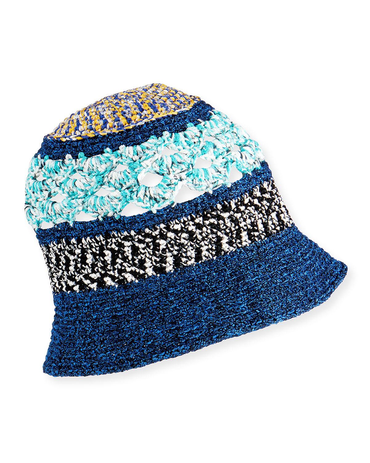 Missoni MIXED-PATTERN BUCKET HAT