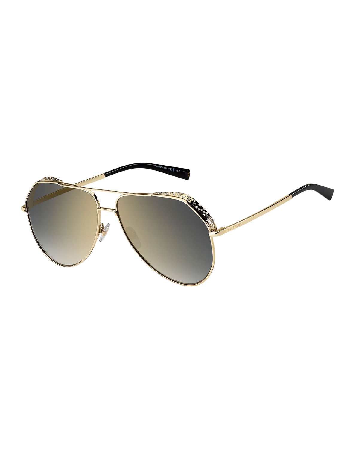 Givenchy STAINLESS STEEL AVIATOR SUNGLASSES