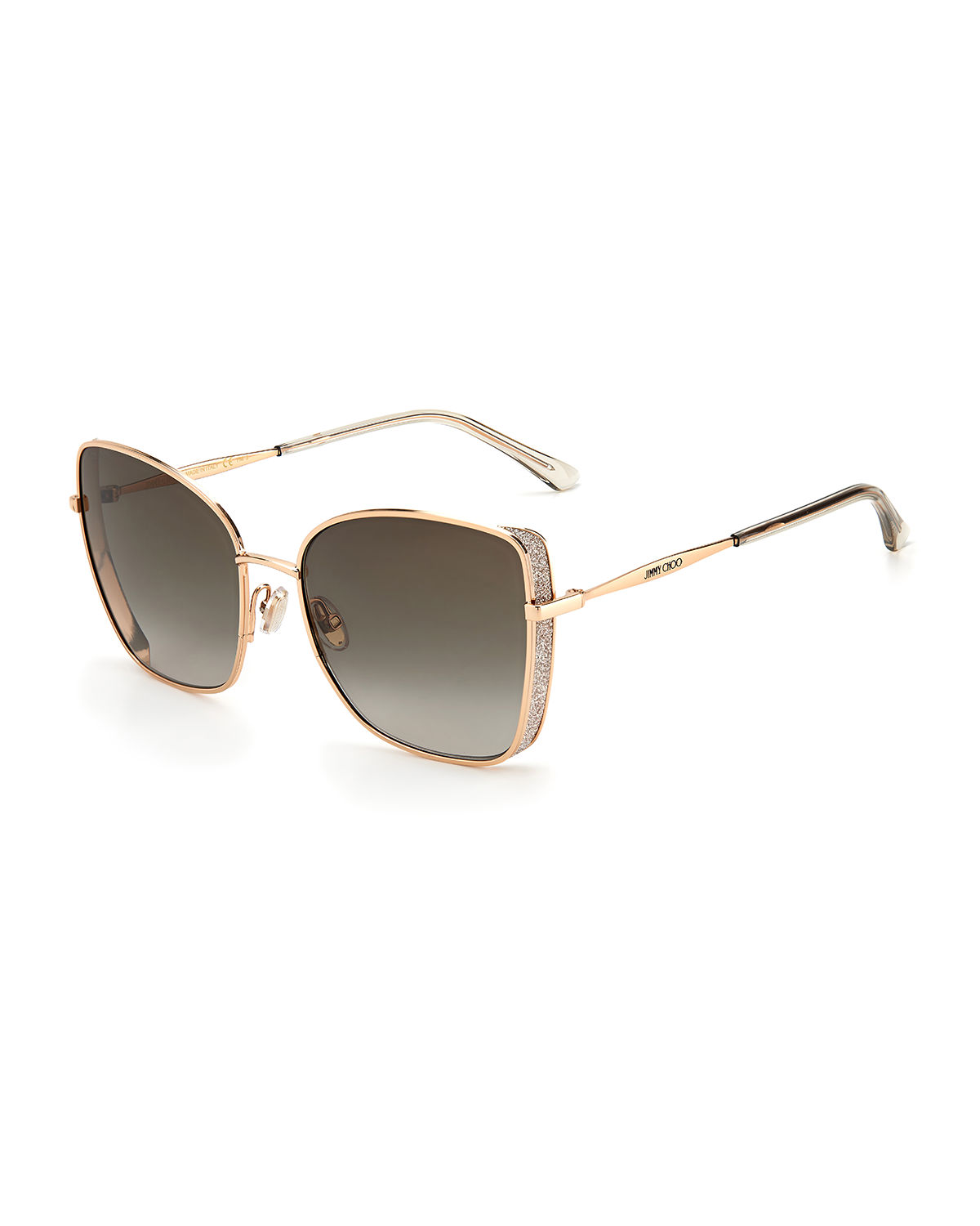 Alexis Stainless Steel Butterfly Sunglasses
