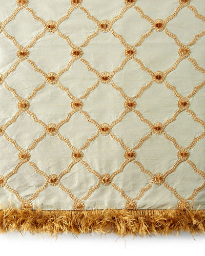 Tuscan Trellis European Sham with  Brush Fringe