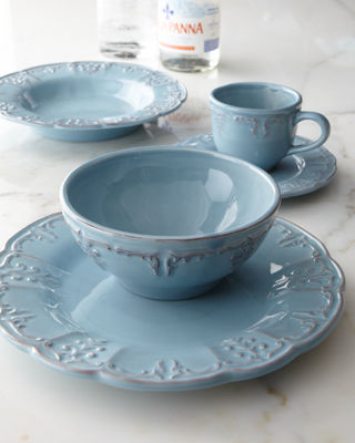 Four Fleur-de-Lis Soup Bowls : made in portugal dinnerware - pezcame.com