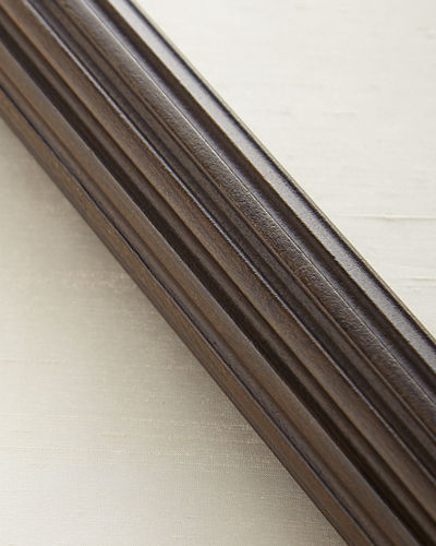 4'L Fluted Wood Drapery Rod