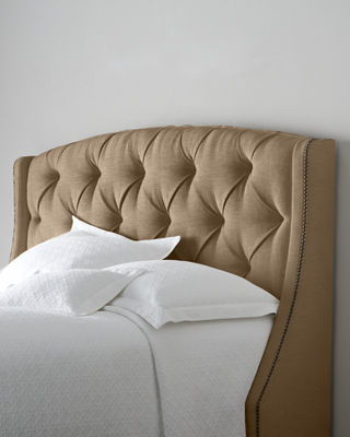 Bernhardt Rami Wing King Tufted Headboard