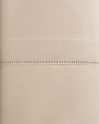 Sferra King 406 Thread Count White Percale Fitted