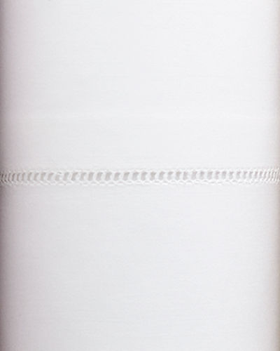 Queen 406 Thread Count White Percale Fitted Sheet