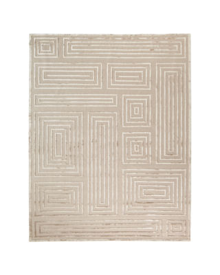 Image 1 of 2: Spiral Quads Rug, 10' x 14'