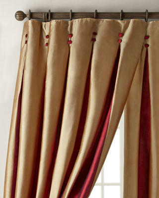 """Each 96""""L Inverted Pleat Curtain"""