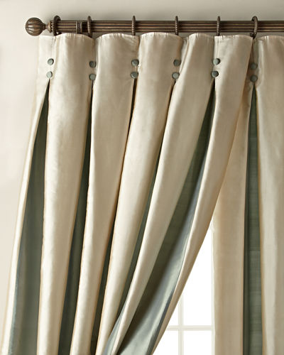 "Each 96""L Inverted Pleat Curtain"