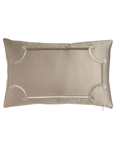 "Oblong Vendome Pillow, 14"" x 22"""