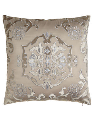 "24""Sq. Floral ""Morocco"" Pillow"