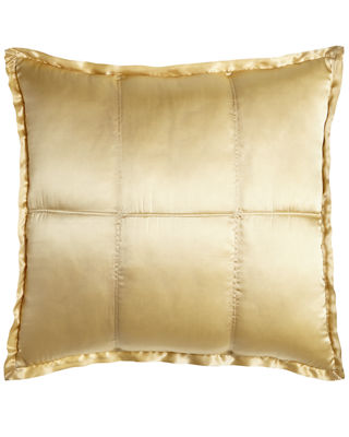 Donna Karan Home Reflection Quilted Silk European Sham