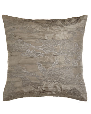 "Image 1 of 2: Reflection Embroidered Pillow, 18""Sq."