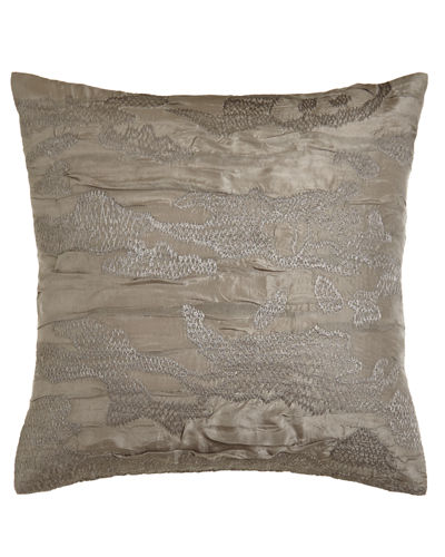 Donna Karan Home Reflection Embroidered Pillow, 18