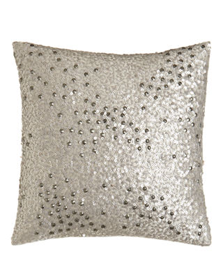 "Reflection Sequin Pillow, 12""Sq."