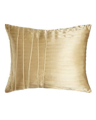 "Reflection Pleated Pillow, 16"" x 20"""