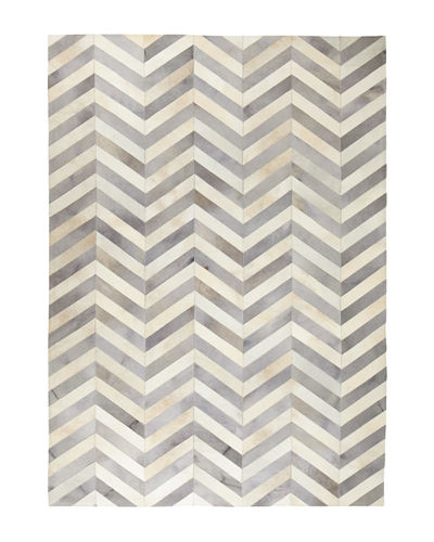 Exquisite Rugs Windsor Chevron Hide Rug