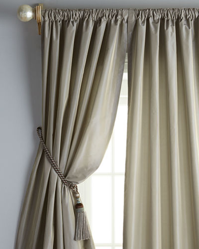 "Each 20""W x 96""L Goblet-Pleat Kate Curtain"