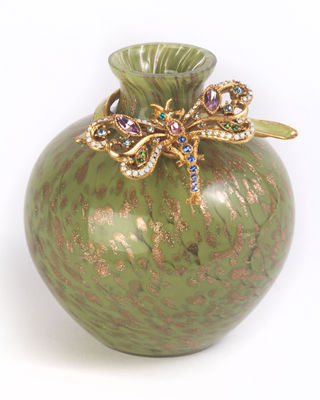 Image 1 of 2: Alice Dragonfly Vase