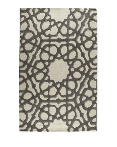 Rose Window Rug, 5' x 8'