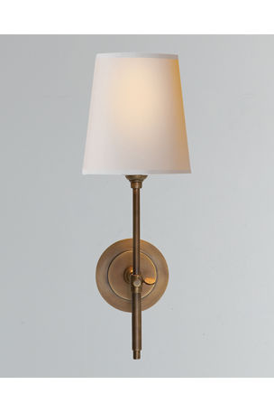 Thomas O'Brien Bryant Sconce with Antiqued-Brass Finish