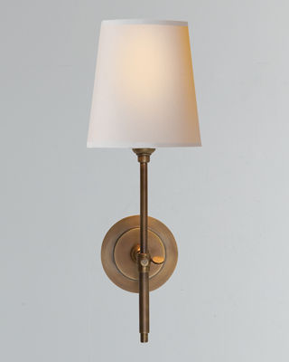 Visual Comfort Bryant Sconce with Antiqued-Brass Finish