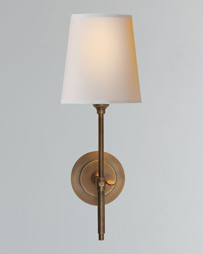 Bryant Sconce with Antiqued-Brass Finish