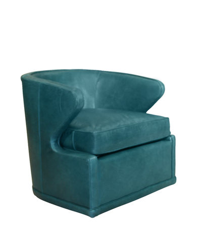 Dyna St. Clair Peacock Blue Swivel Chair