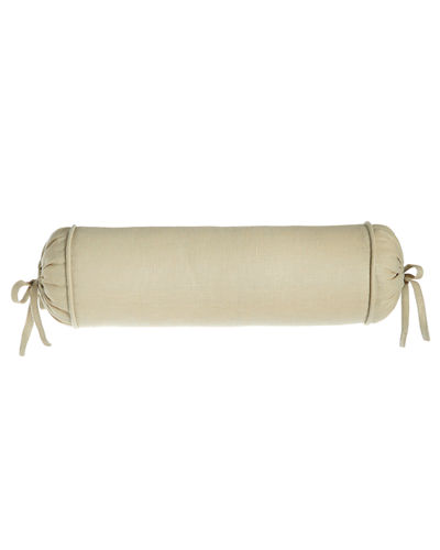 "Monterey Solid-Color Neck Roll Pillow, 6"" x 20"""