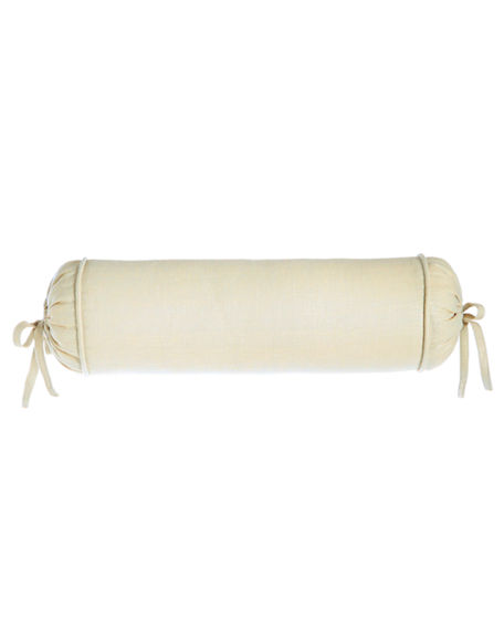 """Sherry Kline Home Monterey Solid-Color Neck Roll Pillow, 6"""" x 20"""""""