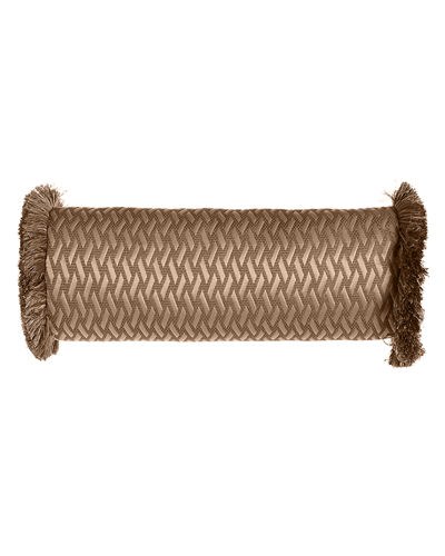 "Le Plaza Woven-Pattern Neck Roll Pillow, 21"" x 8"""