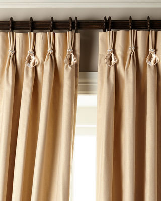 """108""""L Shimmer Curtain with Asfour Crystals"""