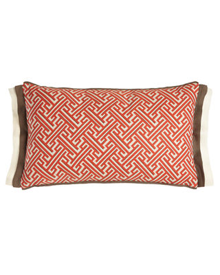 "Trellis Lumbar Pillow, 13"" x 22"""