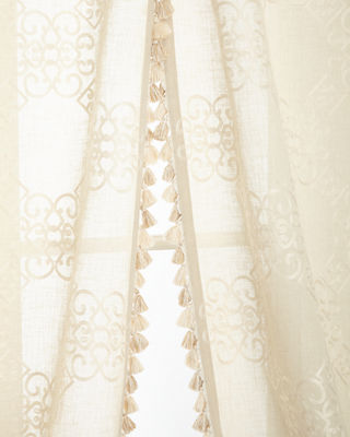 """Two 53""""W x 96""""L Stockholm Curtains"""