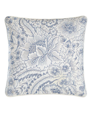 "Clementina Floral Pillow, 18""Sq."
